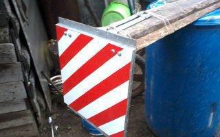 Знаки, используемые при перевозке негабаритных грузов: размеры гост