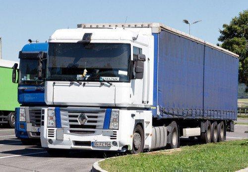 Синий грузовик