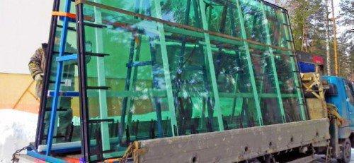 Транспортировка широкоформатного стекла