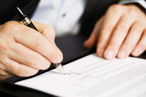 Подписывание документов