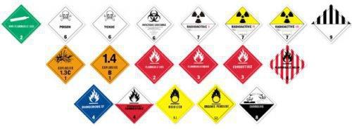 Значки опасных веществ