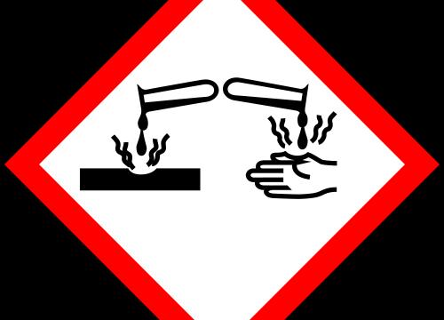 Значки опасных веществ органические кислоты