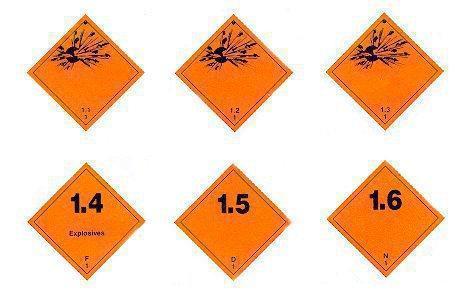Знак опасности взрывчатые вещества